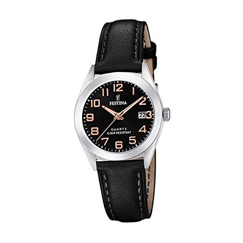 Festina Damen Analog Quarz Uhr mit Leder Armband F20447/3