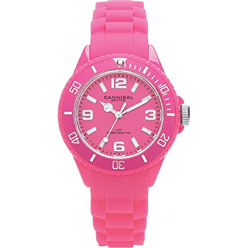 Cannibal CK215-15 - Reloj analógico de Cuarzo Unisex, Correa de Silicona Color Rosa