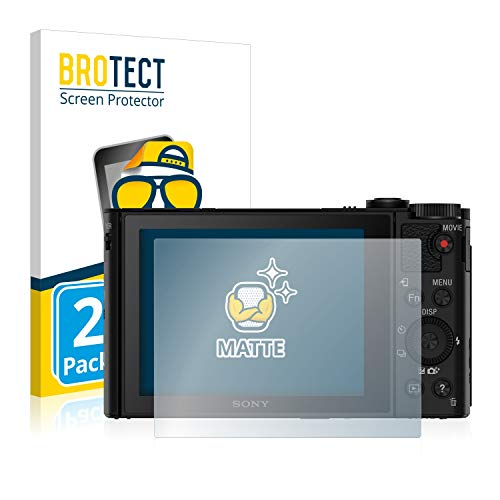 BROTECT Protector Pantalla Anti-Reflejos Compatible con Sony Cyber-Shot DSC-HX90 (2 Unidades) Película Mate Anti-Huellas