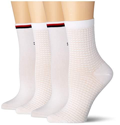 Tommy Hilfiger Womens Waffle Women\'s Short (2 Pack) Socks, white, 35/38