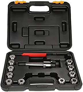 ER32 Spring Collet Set Chuck Tool MT3 Shank For CNC Workholding Engraving & Milling Lathe Tool Holder Carbon Steel Collets 11PCS With Carry Box