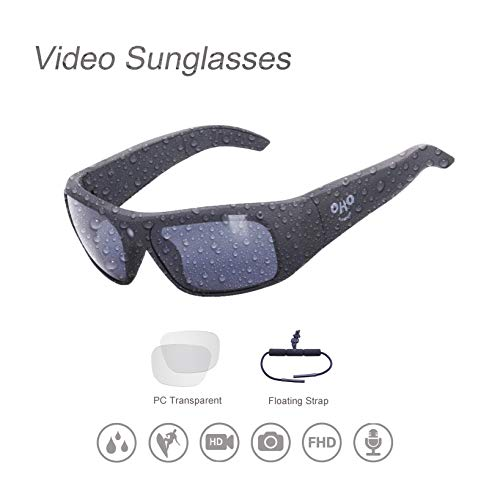 Waterproof Video Sunglasses,Xtreme Sporting 1080P Ultra HD Video Recording Camera and Polarized UV400 Protection Safety Lenses (64G)