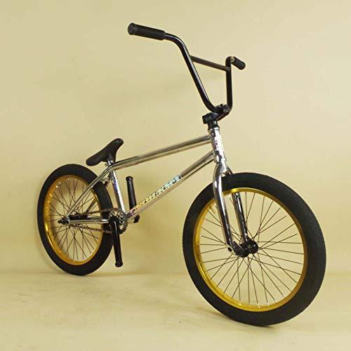 MIAOYO Bici BMX Professionale per Adolescenti E Adulti, Ruote da 20 Pollici, A Livello di Principiante A Cavalieri Avanzati, 4130 Telaio in Acciaio CR-MO, Ingranaggio BMX da 25 × 9T 9T