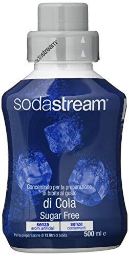 sodastream 1020195490 Sirup Cola Sugar Free 500 ml, Ergiebigkeit: 1x Flasche ergibt 12 Liter Fertiggetränk, Sekundenschnell zubereitet und Immer frisch, blau