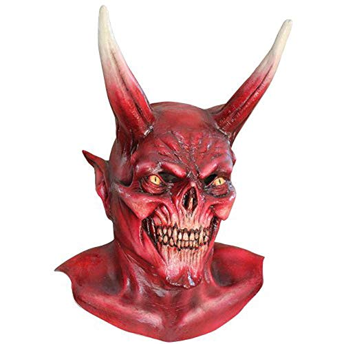 Mask Head & Neck Devil Red