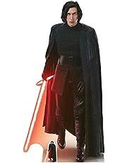 STAR CUTOUTS Kylo REN (la última Hueco de Jedi), Madera, Multicolor, 188x 95x 188cm