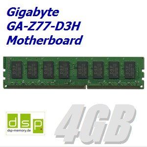 DSP Memory 4GB Speicher/RAM für Gigabyte GA-Z77-D3H Motherboard
