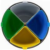 - COMPATTO - Cestino Spazzatura Differenziata 17 Litri | Con 4 Scomparti per la Piccola Raccolta Separata di 4 tipi di Rifiuti in un Unico Contenitore