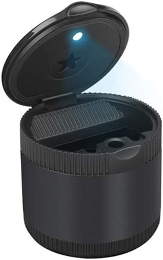 LHTCZZB Gorgeous Pullable Portable Ashtray with Max 83% OFF Lid Light S LED Anti Blue