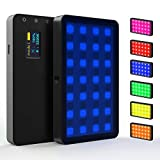 Weeylite RB08P GRB LED Video Light Full Color Output CRI95+,2500K-8500K Bi-Color,Ultra Thin Dimmable Brightness Temperature Lighting Panel with Rechargeable Lithium Battery Compatible for Digital SLR