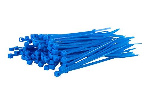 100Kabelbinder, farbig –100mm x 2,5mm, Premiumqualität, starke Nylonbinder von Gocableties, blau