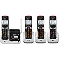 AT&T BL102-4 DECT 6.0 4-Handset Cordless Phone for Home with Answering Machine, Call Blocking, Caller ID Announcer, Audio Assist, Intercom & Unsurpassed Range (Silver/Black)