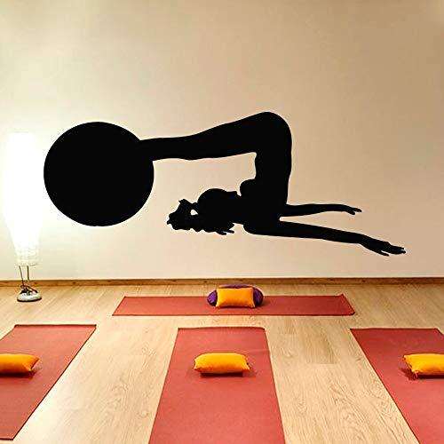 yaonuli Muurtattoo voor dames, met ballen, gym, yoga, praktijk, silhouet, vinyl