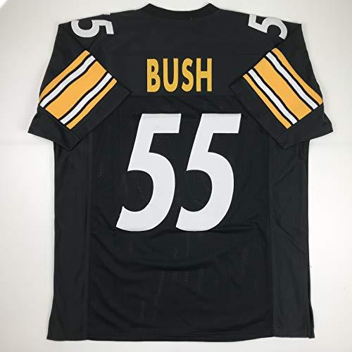Unsigned Devin Bush Pittsburgh Black Custom Stitched Football Jersey Size Men