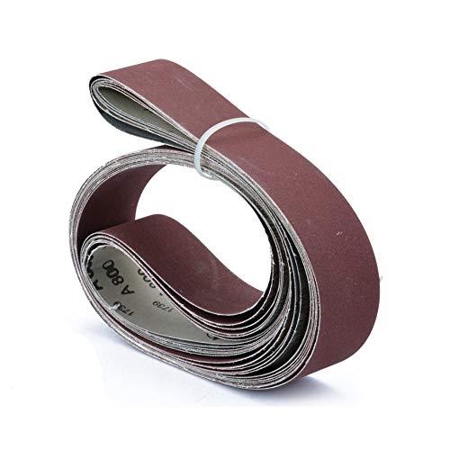FPO&FGL Schleifpapier 6 teile/satz 5x182 cm Schleifbänder 180/240/320/400/600/800 Grit Bandschleifer Elektrowerkzeuge für Holz Metall Oberfläche Polieren Reinigung