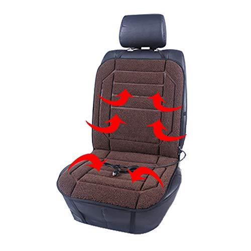 Seat Cushion Verwarmd zitkussen voor auto, 12 V, voor warme verwarming, verwarmde pad ontlasting van rug en been, opdruk, kussen, winterwarmers, 2 stuks