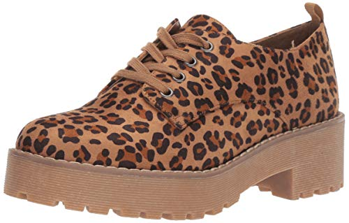 Dirty Laundry by Chinese Laundry Women's MELODIES Oxford, tan Cheetah, 9 M US
