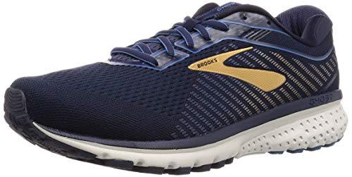 Brooks Ghost 12 - Zapatillas de correr para hombre, (Azul marino/Agua/Oro), 45 EU