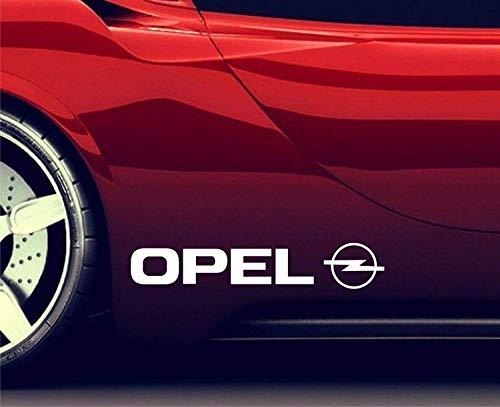 2X Seitenaufkleber Aufkleber Passt Opel Logo Sticker Emblem Logo