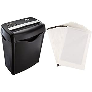 Amazon com: AmazonBasics 12-Sheet Cross-Cut Paper Shredder