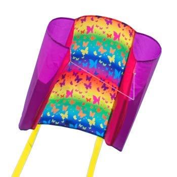CIM Einleiner-Drachen - Beach Kite - Einleiner Flugdrachen für Kinder ab 6 Jahren - Abmessung: 70x47cm - inkl. 40m Drachenschnur und Streifenschwänze … (Butterfly)
