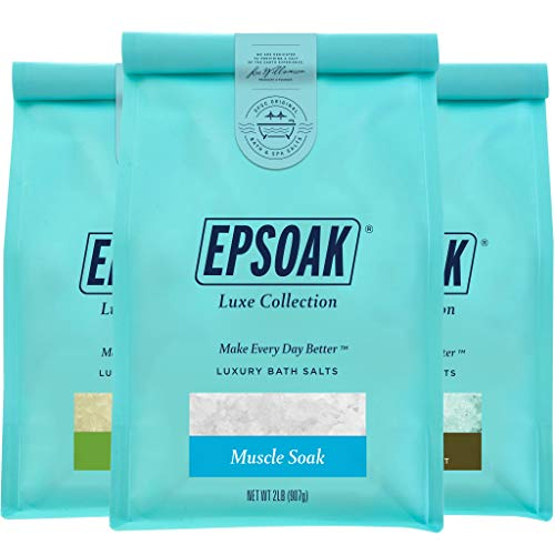 Therapeutic Luxury Bag Bundle - Detox Soak, Muscle Soak, & Harmony Foaming Bath Salts (2 lb. Bag of Each) by San Francisco Salt Company