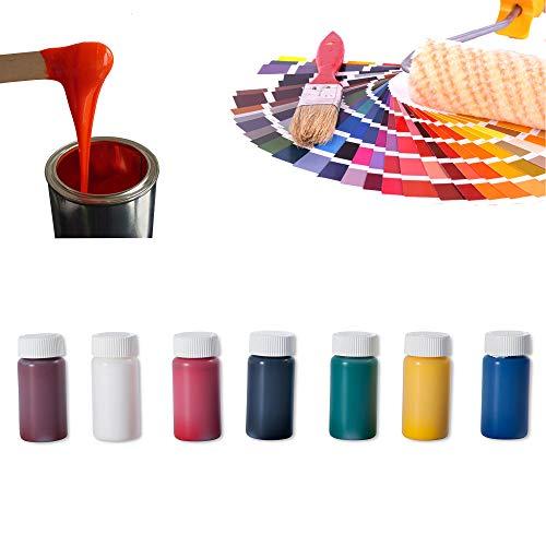 Epoxidharz Farbe Set 7 x 20g | Deckende Farbpaste für Giessharz | Einfärben von Epoxid-Harz | Rivertable, Bastelarbeiten, Modellbau | BM-FPN-SET-01 Standardfarben