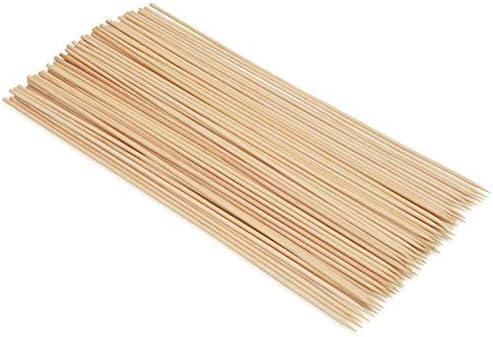 EUROXANTY® Lot de 90 brochettes en Bois de Bambou pour Barbecue et apéritifs 25 cm 30 cm