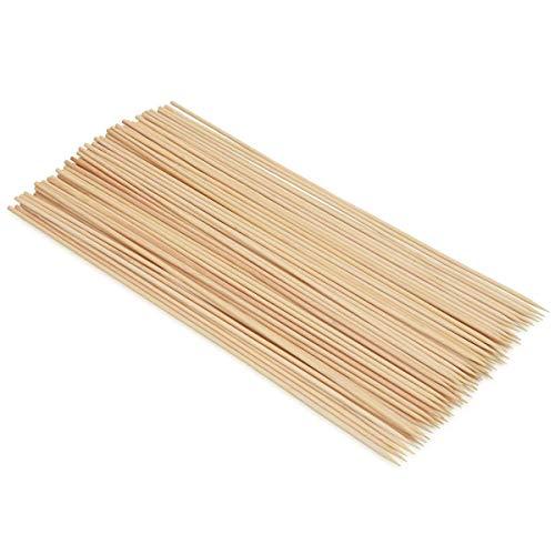EUROXANTY Brochetas de Madera de Bambú | Pinchos Perfecto para Parrilla y Aperitivos | Pack 90 uds | 20 cm | Alta Calidad | Barbacoa BBQ Queso Frutas Fondues