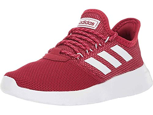 adidas Women's Lite Racer RBN Running Shoe, Active Maroon/White/Blue Tint, 10 M US