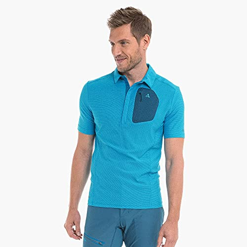 Schöffel Rosaria Polo Homme, Horizon Blue, FR : L (Taille Fabricant : 50)