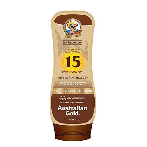 Australian Gold Australian Gold Bronzer Locion Spf15 ml Unisex, Único, Negro, 237 Mililitro