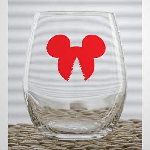 Vaso de chupito personalizado para whisky, diseño de orejas de árbol de...