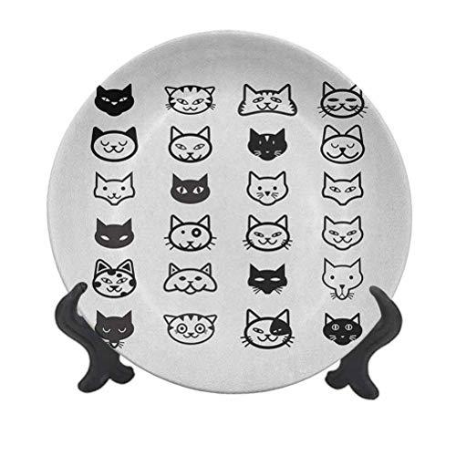 Cat Lover - Plato decorativo de cerámica de 15,24 cm, colección de...