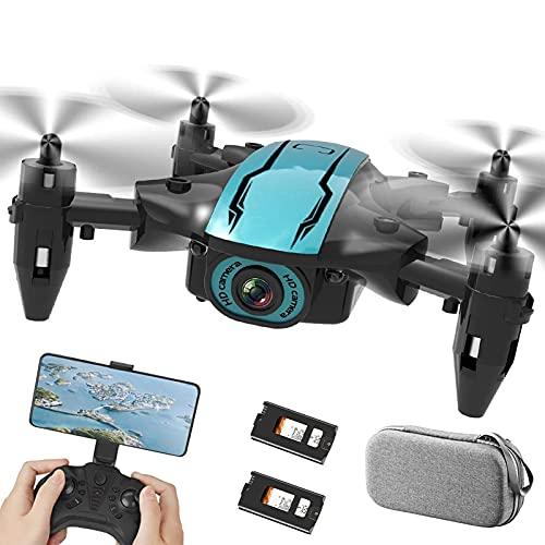 GZTYLQQ Drone 4K HD, quadricottero GPS per Principianti, Motore brushless, Trasmissione a 2,4 GHz, Ritorno Automatico a casa, seguimi 2 batterie