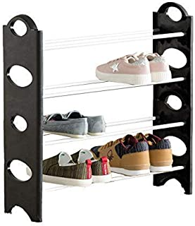 Digionics Foldable Shoe Rack with 4 Shelves (Plastic Rod) (Pack of1)