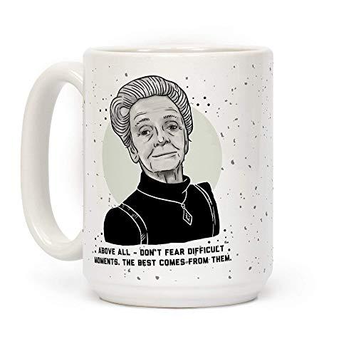 Non temere i momenti difficili con la tazza da caffè in ceramica bianca da 11 once di Rita Levi-Montalcini
