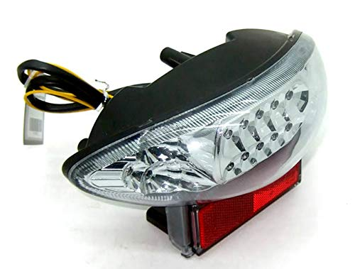 MZS Tail Light LED Integrated Turn Signal Blinker Compatible with GSXR 1300 GSXR1300 1999-2007 | GSX600 GSX600F GSX750 GSX750F 2003-2006 Clear