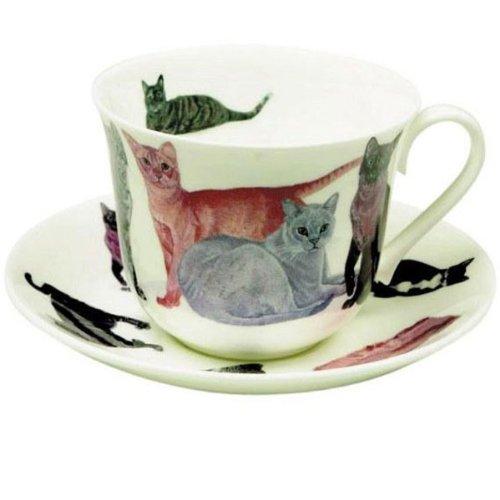 Roy Kirkham XCATS1100 Frühstücks-Jumbotasse Cats Galore (Massenhaft Katzen)
