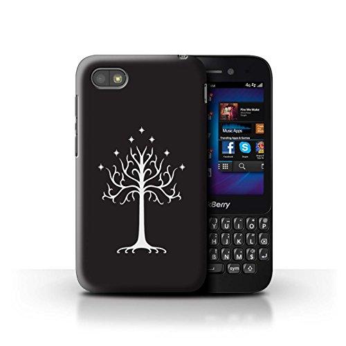Hülle Für BlackBerry Q5 LOTR Fantasie Inspiriert Weißer Baum Gondor Design Transparent Ultra Dünn Klar Hart Schutz Handyhülle Case
