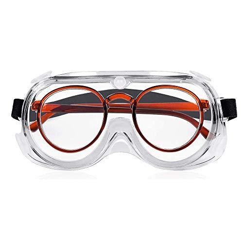 保護メガネ ゴーグル 曇り止め 防曇 防塵ゴーグル 防塵メガネ 軽量 透明 オーバーグラス 保護用アイゴーグル ゴーグル 作業用保護 眼鏡着用可