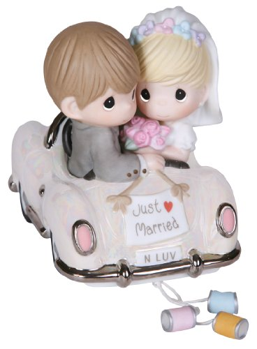 Precious Moments, Just Married, Bisque Porcelain Figurine, 103018 , Gray