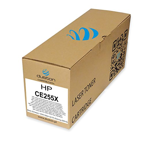 CE255X, 55X Gerecyclede zwarte Duston toner, compatibel met HP Laserjet Enterprise P3015, P3015d, P3015dn, P3015x, HP Laserjet Enterprise Flow M525c, 500 MFP M525dn, 500 MFP M525f, HP Laserjet Pro MFP M521dn, MFP M521dw