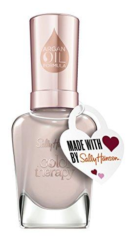 Sally Hansen Color Therapy Nagellack Love me Mauve mit pflegendem Arganöl, limitierte Valentines Day Edition mit Herzanhänger, Farbe 511, Helles Mauve, 1er Pack (1 x 14,7 ml)