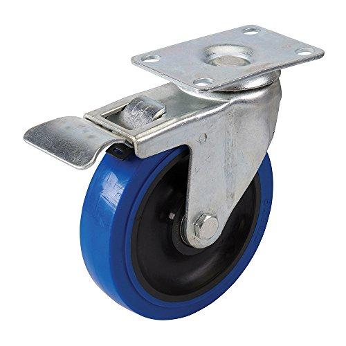Fixman 200742 caoutchouc Elastique bleu Castor 100mm 140kg bleu