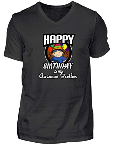 Happy Birthday Brother Geschenk - Chemise d' Homme col V -XXL-Noir