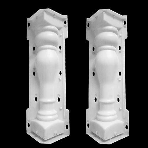 Molde de columna romana, Kucy Balcón Jardín Piscina Valla Cemento Railing yeso hormigón molde