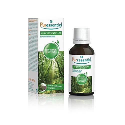 Puressentiel - Huiles Essentielles pour Diffusion - Diffuse Promenade en Forêt - 100% pures et naturelles - Libère un parfum ressourçant et revitalisant - 30 ml