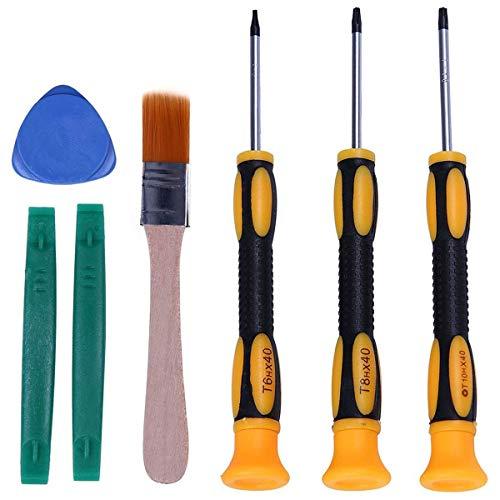 Viudecce Trousse à Outils Pour One / S / X 360 Ps4 et Ps3 Outils 7 En 1 Pour Contrrleurs et Consoles T6 T8H et T10H Tailles