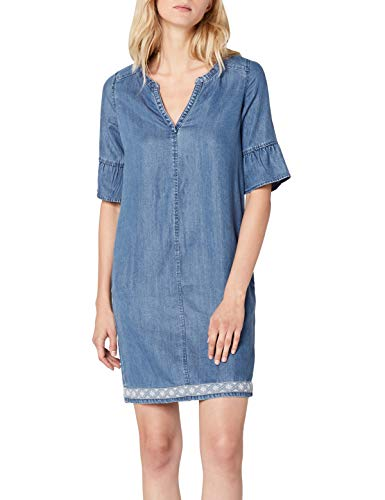 s.Oliver Damen 14.805.82.7825 Kleid, Blau (Blue Denim Non Stretch 53y4), 34